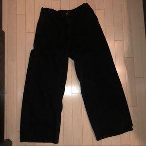 COS wide leg black jeans